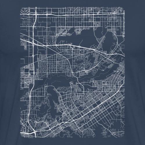 Minimal Jurupa Valley city map and streets - Men's Premium T-Shirt