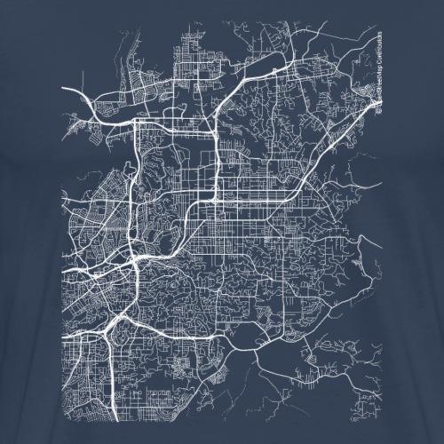 Minimal El Cajon city map and streets - Men's Premium T-Shirt