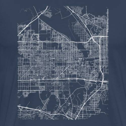Minimal Rialto city map and streets - Men's Premium T-Shirt
