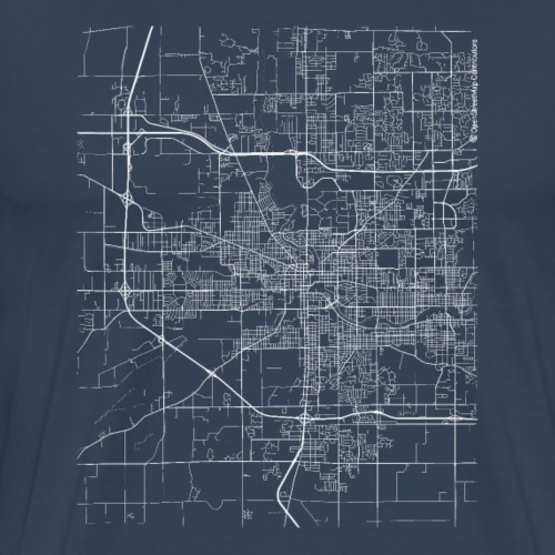 Minimal South Bend city map and streets - Men's Premium T-Shirt