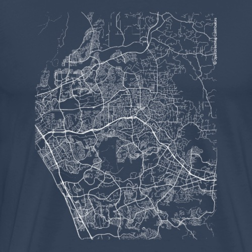 Minimal Vista city map and streets - Men's Premium T-Shirt