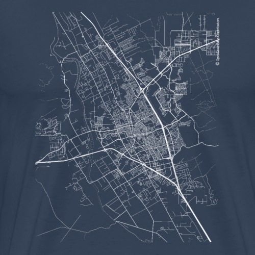 Minimal Las Cruces city map and streets - Men's Premium T-Shirt