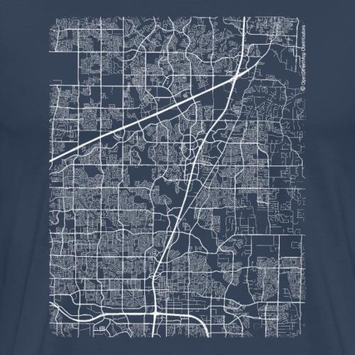 Minimal Allen city map and streets - Men's Premium T-Shirt