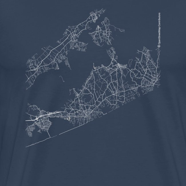 Minimal The Hamptons city map and streets