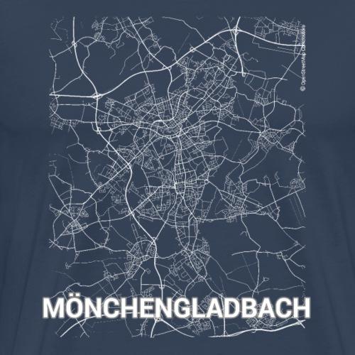 Mönchengladbach city map and streets - Men's Premium T-Shirt