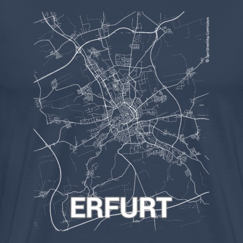 Erfurt city map and streets - Men's Premium T-Shirt