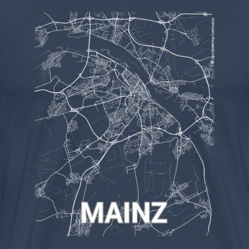 Mainz city map and streets - Men's Premium T-Shirt