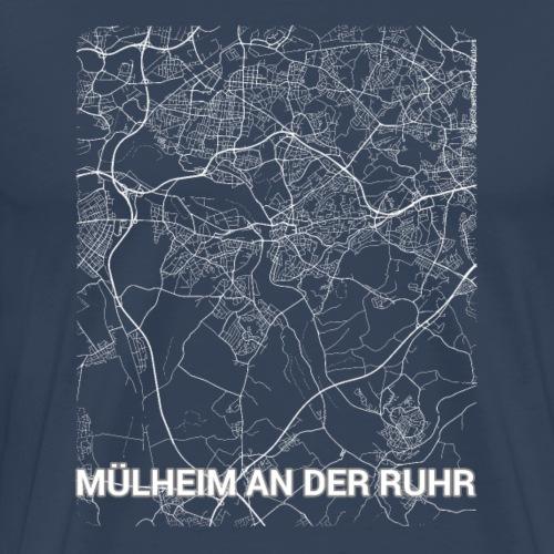 Mülheim an der Ruhr city map and streets - Men's Premium T-Shirt