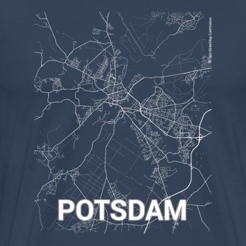 Potsdam city map and streets - Men's Premium T-Shirt