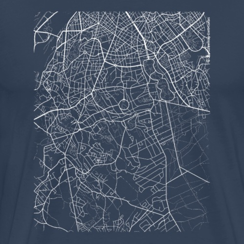 Minimal Uccle city map and streets - Men's Premium T-Shirt