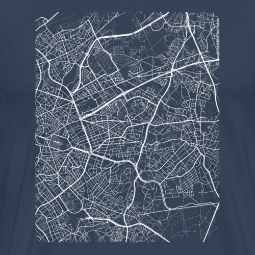 Minimal Woluwe-Saint-Lambert city map and streets - Men's Premium T-Shirt
