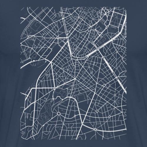 Minimal Saint-Gilles city map and streets - Men's Premium T-Shirt
