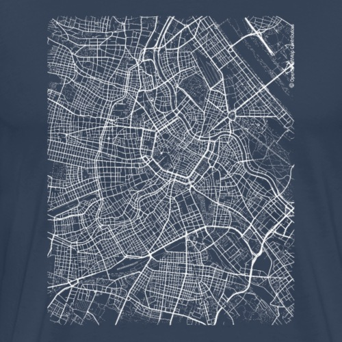 Minimal Wien Innere Stadt city map and streets - Men's Premium T-Shirt