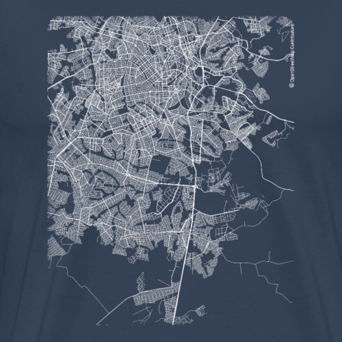 Minimal Aparecida de Goiânia city map and streets - Men's Premium T-Shirt