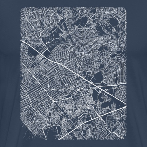 Minimal São João de Meriti city map and streets - Men's Premium T-Shirt