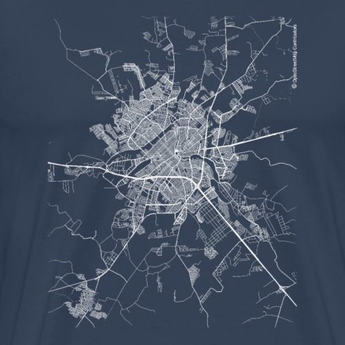 Minimal São José do Rio Preto city map and streets - Men's Premium T-Shirt
