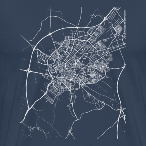 Minimal Jérez de la Frontera city map and streets - Men's Premium T-Shirt