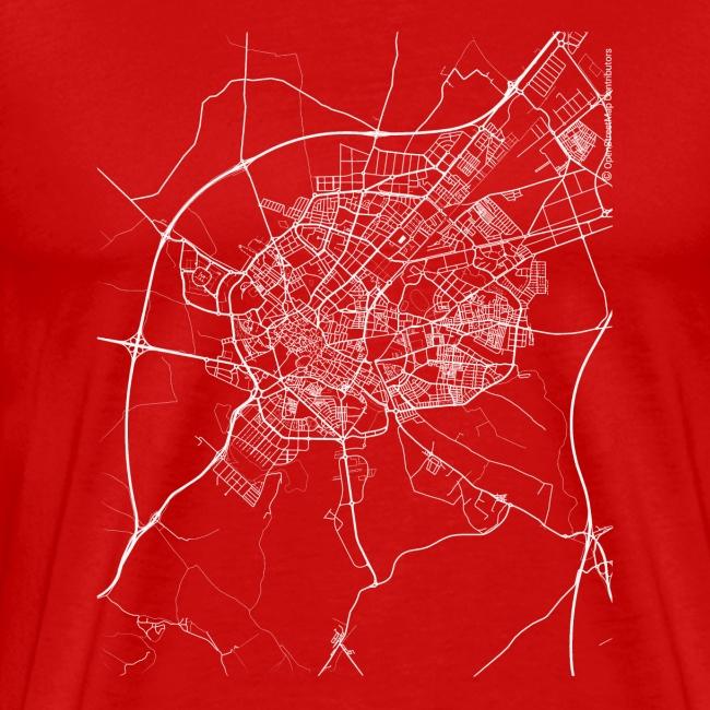 Minimal Jérez de la Frontera city map and streets