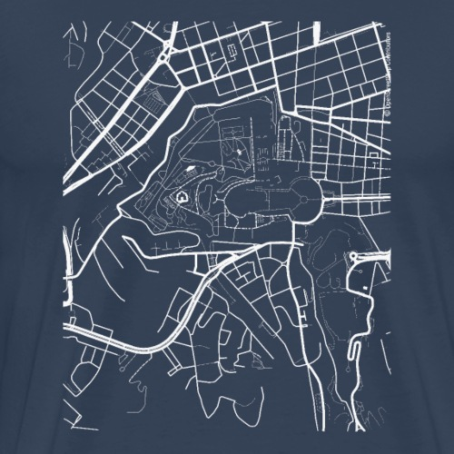 Minimal Città del Vaticano city map and streets - Men's Premium T-Shirt