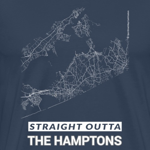 Straight Outta The Hamptons city map and streets - Men's Premium T-Shirt