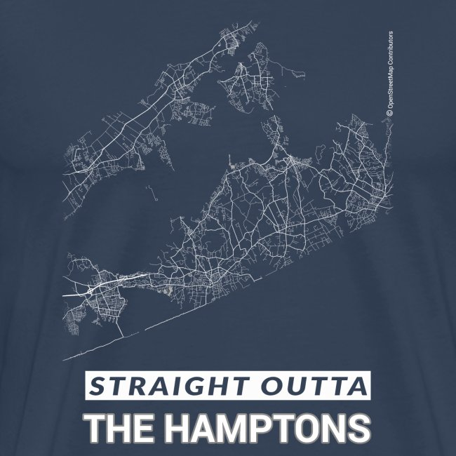 Straight Outta The Hamptons city map and streets