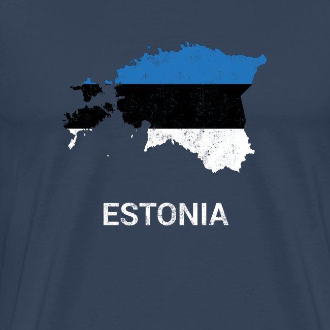 Estonia (Eesti) country map & flag