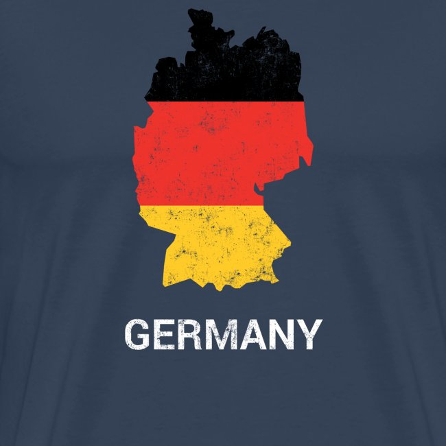 Germany (Deutschland) country map & flag