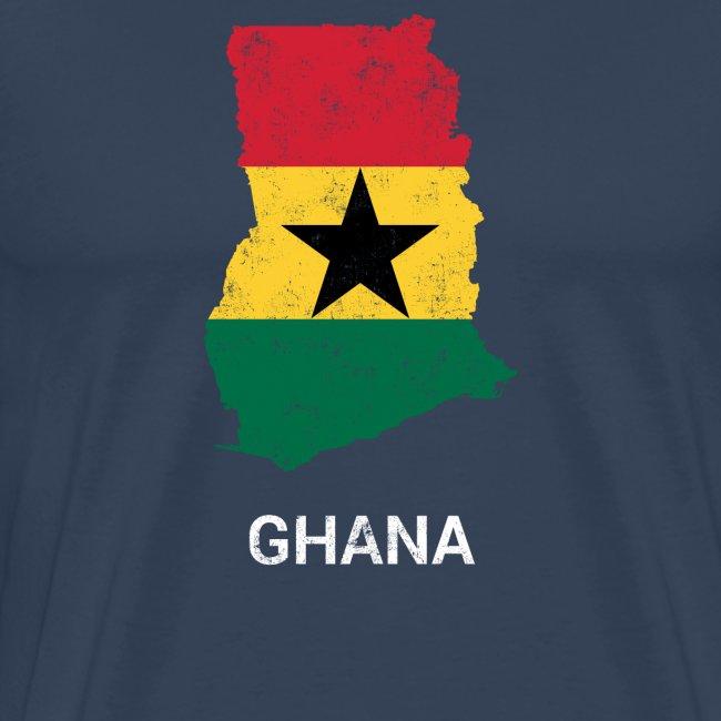 Ghana ( Gaana Gana ) country map & flag
