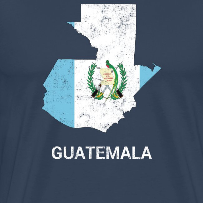 Guatemala country map & flag