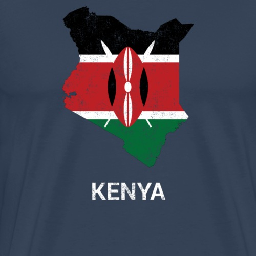 Kenya country map & flag - Men's Premium T-Shirt