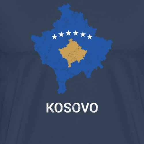 Kosovo ( Kosova ) country map & flag - Men's Premium T-Shirt