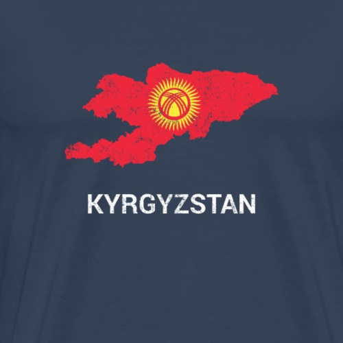 Kyrgyzstan ( Kirgizija ) country map & flag - Men's Premium T-Shirt