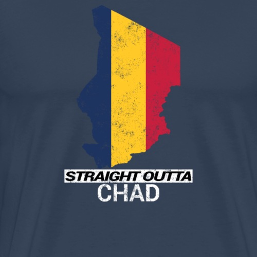 Straight Outta Chad (Tchad) country map & flag - Men's Premium T-Shirt