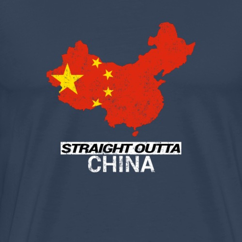 Straight Outta China country map - Men's Premium T-Shirt
