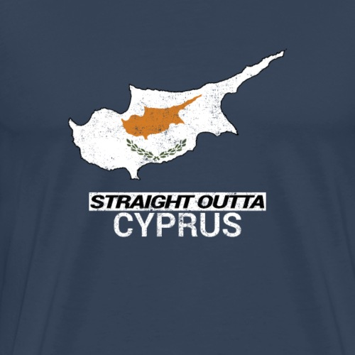 Straight Outta Cyprus country map - Men's Premium T-Shirt