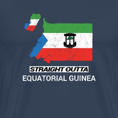 Straight Outta Equatorial Guinea country map - Men's Premium T-Shirt
