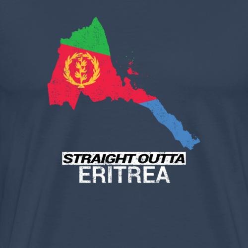Straight Outta Eritrea country map & flag - Men's Premium T-Shirt