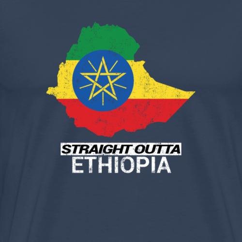 Straight Outta Ethiopia country map - Men's Premium T-Shirt