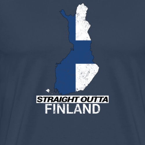 Straight Outta Finland country map - Men's Premium T-Shirt