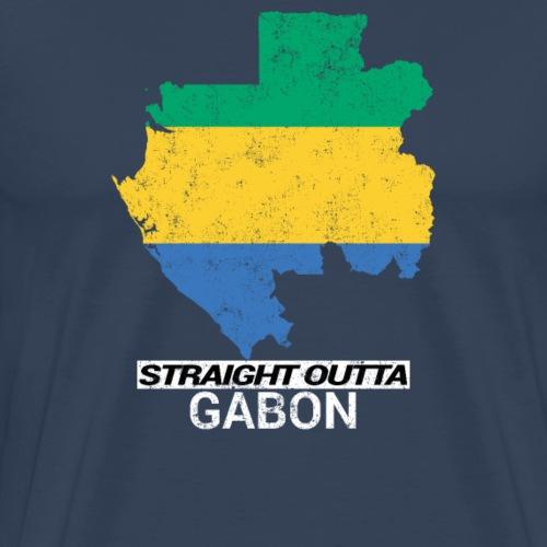 Straight Outta Gabon country map - Men's Premium T-Shirt