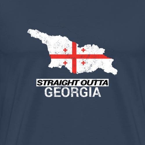 Straight Outta Georgia country map - Men's Premium T-Shirt