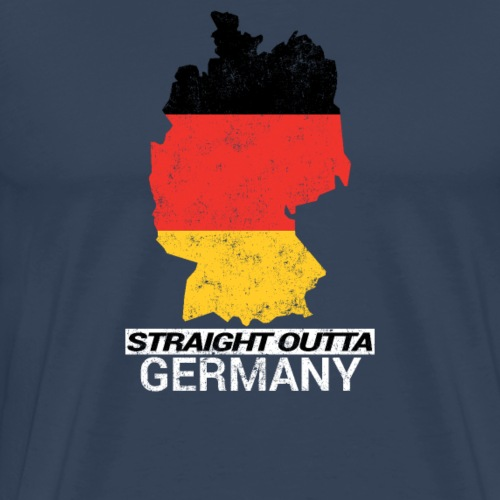 Straight Outta Germany country map - Men's Premium T-Shirt