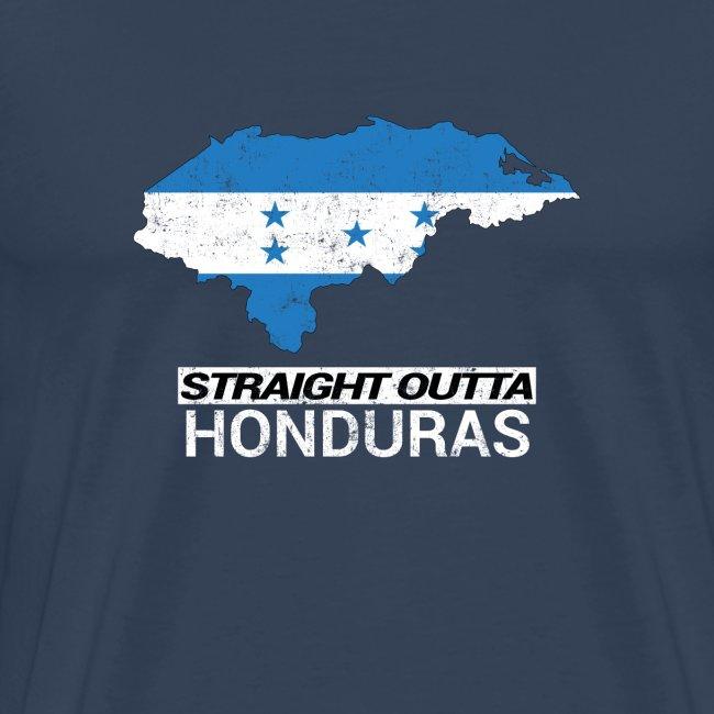 Straight Outta Honduras country map & flag