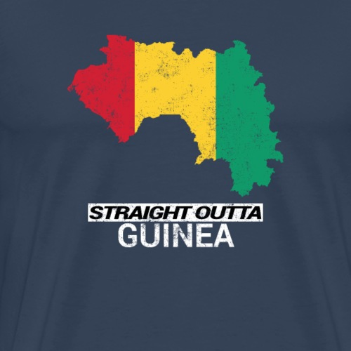 Straight Outta Guinea country map - Men's Premium T-Shirt