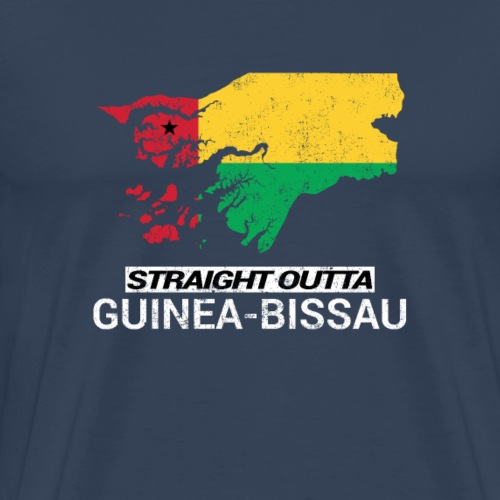 Straight Outta Guinea-Bissau country map - Men's Premium T-Shirt