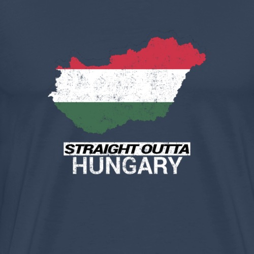 Straight Outta Hungary country map - Men's Premium T-Shirt