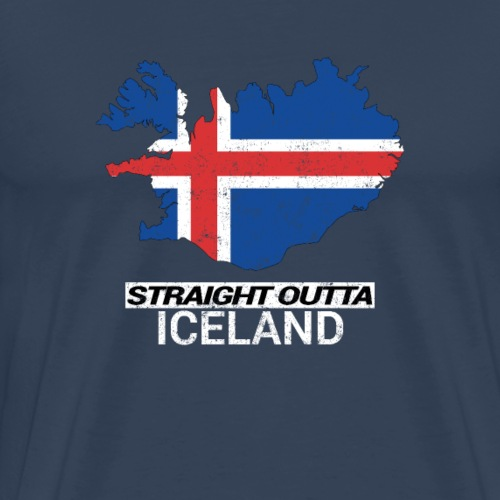 Straight Outta Iceland country map - Men's Premium T-Shirt