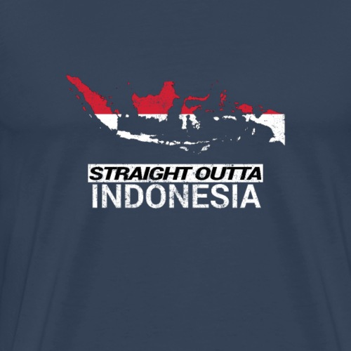 Straight Outta Indonesia country map & flag - Men's Premium T-Shirt