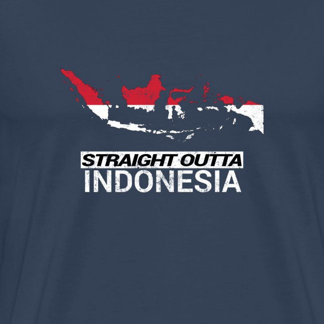 Straight Outta Indonesia country map & flag