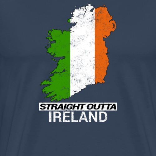 Straight Outta Ireland (Eire) country map flag - Men's Premium T-Shirt